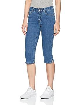 Vero Moda Vmhot Seven NW Dnm Slit Knicker Mix Noos, Pantalones para Mujer