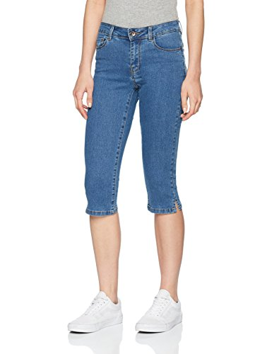 VERO MODA Damen Hose Vmhot Seven NW Dnm Slit Knicker MIX Noos, Blau (Medium Blue Denim Medium Blue Denim), 34 (Herstellergröße: XS)