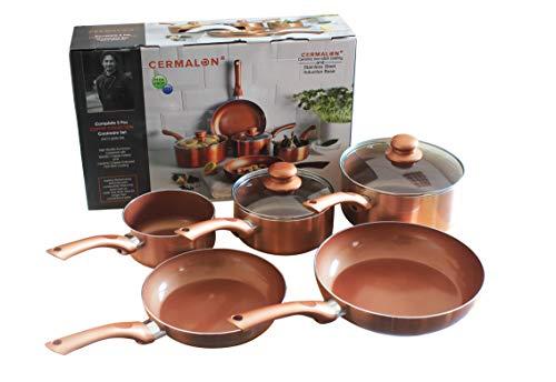 Beschichtete Keramik, Kupfer beschichteter Pfannen Set