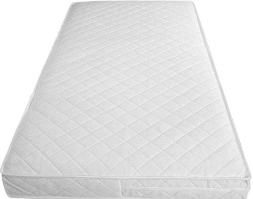 Gesteppte Matratze (Inspire gesteppte Babybett/Kinderbett-Matratze, wasserdicht, atmungsaktiv, weich, gesunde Matratze, Bezug mit Reißverschluss., 112 X 55 X 13 CM)