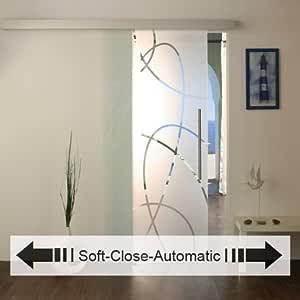 NEU Glasschiebetür mit Soft-Close-Automatic