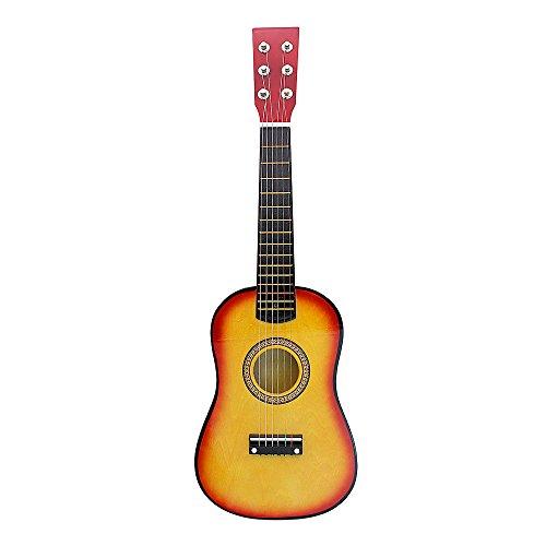 """Preisvergleich Produktbild Andoer® 23"""" Gitarre Mini Gitarre Linde für Kinder Musikalisches Spielzeug Akustische Saiteninstrument mit Plektrum und Saite"""