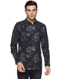 Jack & Jones Men's Floral Regular Fit Cotton Casual Shirt