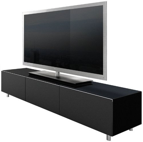 Just Racks Black TV Cabinet for up to 65 inch TVs
