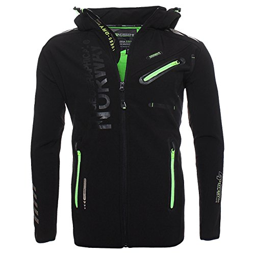 84H1 Amazon II Geographical Norway Rainman Herren Softshell Schwarz Gr. L Herren Shell Jacken