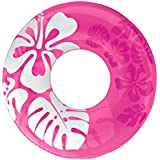 36 Inch Inflatable Swim Ring Tube - Blow Up Floating Raft Tube For Swimming Pool Beach For Kids Age 9+ Years - Assorted Colors