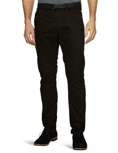 J.C. Rags Herren Freizeit Hosen  Slim  - Schwarz - Black A - Medium (Herstellergröße : W33 INxL34 IN) (Rags Jc)