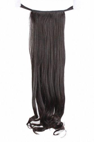 MapofBeauty 52cm/ 20 Pouce Longue Bouclé Femmes Postiche (Noir)