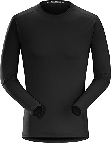 Arcteryx, Phase Sleeveless Crew Long Sleeve Men's, Black, L (Thermal Ls Shirt Mens)