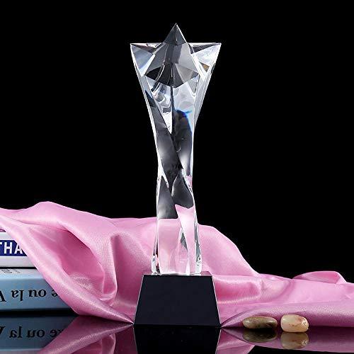 Maerye Kreative Pentagramm Twist Spalte Kristall Schmuck Kunsthandwerk Award Geschenk Kristalltrophäe -