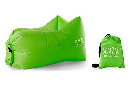 SeatZac Sitzsack, Stoff, Grün, 40 x 18 x 12 cm