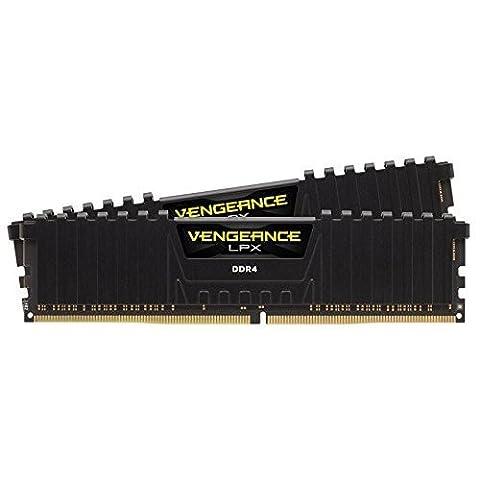 Corsair CMK16GX4M2A2400C16 Vengeance LPX 16 GB (2 x 8 GB) DDR4 2400 MHz C16 XMP 2.0 High Performance Desktop Memory Kit - Black