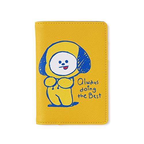 BT21 Official Merchandise by Line Friends - Custodia per passaporto con personaggio Doodling, N9000 Iii (Giallo) - 8809648342327