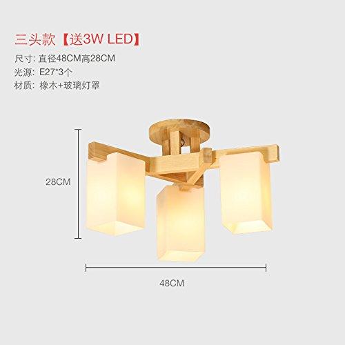 GQLB Led minimalista legno massello in legno chiaro di luce a soffitto (480*280mm),3W
