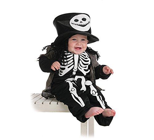 Imagen de llopis  disfraz bebe esqueleto con chistera