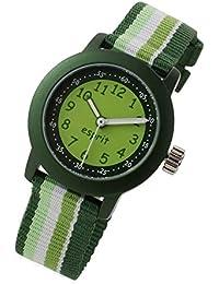 Esprit, boy's watch, green children's watch with beach stripes, plastic aluminium ball, ES106414014