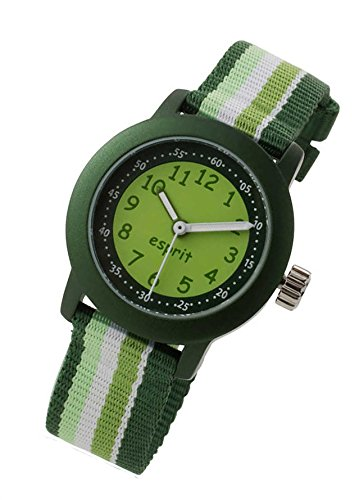 Esprit Jungenuhr Beach Stripes green Kinderuhr Kunststoff Alu Ball ES106414014