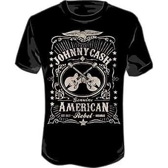 Johnny Cash - - Label für Erwachsene T-Shirt in Schwarz, Medium, Black