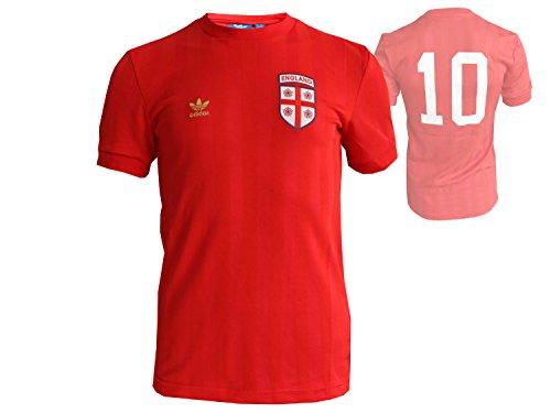 adidas England Originals Tee Fan T-Shirt rot Weltmeisterschaft Fanartikel Nationalmannschaft RU, Größe:XS (Lions Shirt Rugby Rot)
