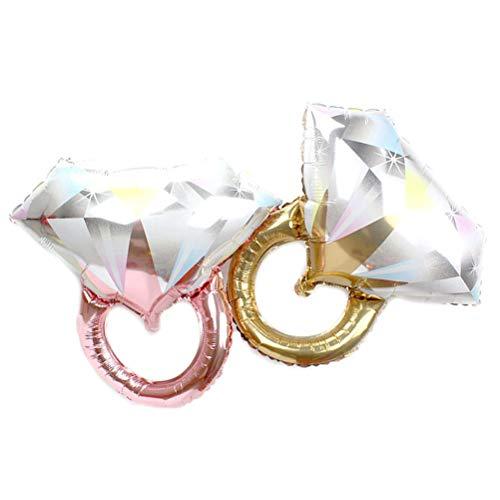 Hochzeit Ring Ballons Diamant Aluminiumfolie Ballons Jubiläum Hochzeit Dekorationen ()