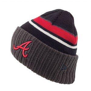 avy / Rot / Grau Prep Class New Era Beanie Hut Eine Größe (Atlanta Braves Hüte)