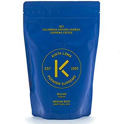 Kinta Loma - 100% Finest Colombian Ground Coffee Arabica Supremo (Popayan - Medium Body - Sweet Floral Note) from Kintaloma