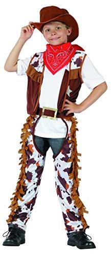 (Generique - Cowboy-Kostüm für Jungen Western braun-Weiss 122/134 (7-9 Jahre))