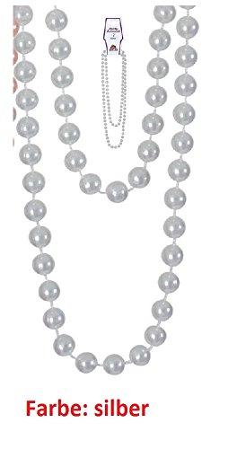 , Karneval, Fasching, Mottoparty (weiß) (Mardi-gras-perlenketten)