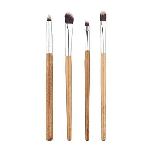 4pcs Pinceaux de Maquillage en Fibre Nylon pour Fard à Paupière Eye-liner Sourcils