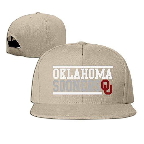 hmkolo Oklahoma Sooners Baumwolle Flat Bill Baseball Snapback Cap Hat Unisex, unisex, natur