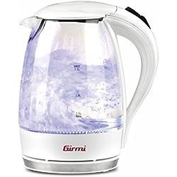 Girmi BL4000 Bollitore, 2200 W, 1.7 Liters, Glass, Bianco