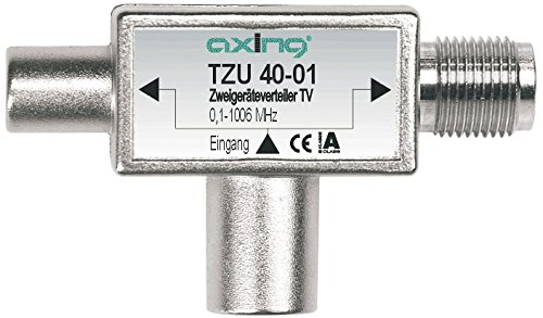 Axing TZU 40-01 2-Fach Verteiler BK (0,1 bis 1006MHz) zum Aufstecken auf Multimedia-Anschluss
