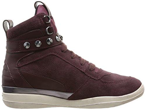 Geox D Hyperspace Damen Sneaker Rot - Rouge (Bordeaux)