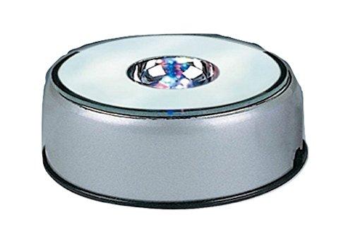 SOCLE à LEDS TOURNANT diamètre 8 cm piles et secteur
