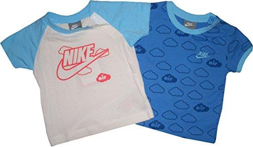 Nike T-Shirt 2er Set. Kuscheliger Tragekomfort. 100% Baumwolle. 9-12 Monate 74-80 cm