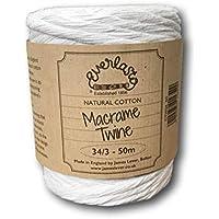 EVERLASTO - Hilo de macramé, natural, 5 mm