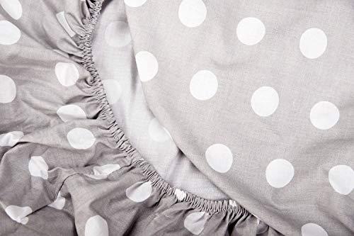 Vizaro - BEZUG für Wickeltischauflage des Babys/verstellbar - 100% REINE BAUMWOLE - 50x70 cm - Made in EU - ÖkoTex - SICHERES PRODUKT - K. Weiße Tupfen