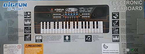 BIGFUN 37 Key Piano Keyboard Toy Organ, Black