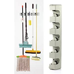 vktech wandhalter wandhacken f r wischmop golf griff messer regenschirm garten. Black Bedroom Furniture Sets. Home Design Ideas