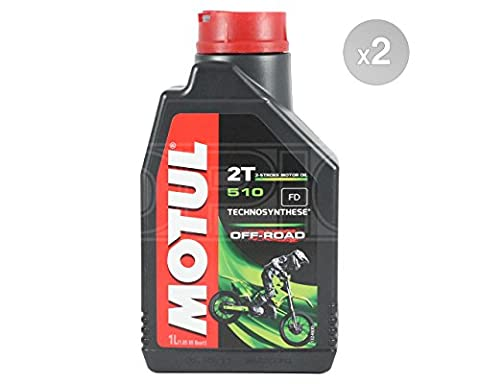 Motul 510 2T OFF ROAD 2T Semi Synthetic Motorcycle Engine Oil - 2 x 1 Litres