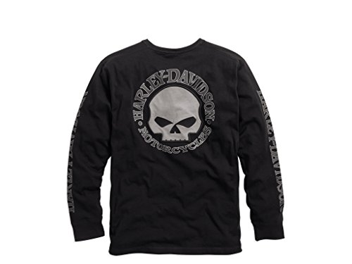 Skull Long Sleeve Tee (Harley-Davidson Men's Skull Black Long Sleeve Tee, S)