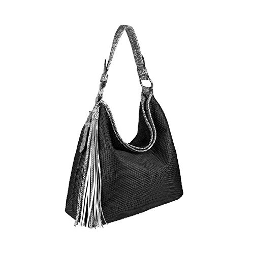 OBC Only-Beautiful-Couture, Borsa tote donna nero nero ca.: 43x36x13 cm (BxHxT) nero