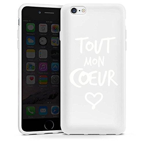 Apple iPhone 6 Silikon Hülle Case Schutzhülle Tout mon coeur Liebe Herz Silikon Case weiß