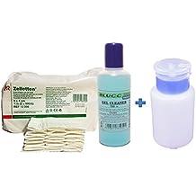 Pack Eliminar capa pegajosa de geles y esmaltes - Cleaner 100ml + Toallitas 100unidades Zelletten de