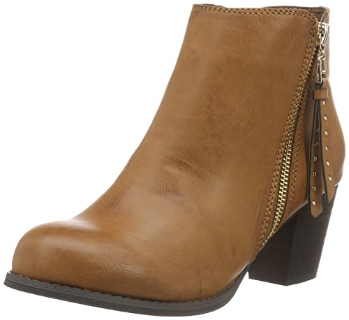H.I.S Women's 28408 Ankle Boots, Brown-Braun (Camle), 4