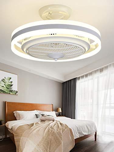 Negative Ion Fan Deckenleuchte Fernbedienung LED Deckenleuchte Fernbedienung Timing Mute Variable Geschwindigkeit Deckenventilator Licht Wohnzimmer Schlafzimmer Lampe (Color : White) - Variable Geschwindigkeit Lüfter