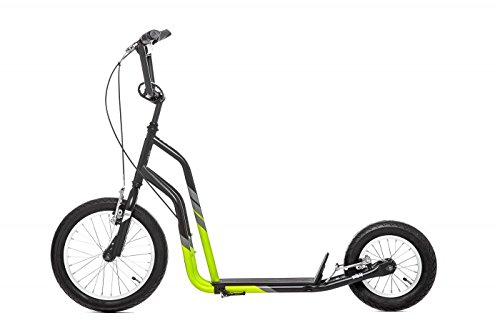 City-Line 16'+12' Scooter Roller Tretroller black/green