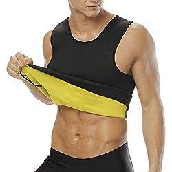 NOVECASA Chaleco Sauna Hombre Neopreno Camiseta sin Mangas Sudoración Tank Top Body Shaper Transpirar Gimnasia Abdome Adelgaz (M, Chaleco)