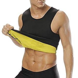 NOVECASA Weste Gewichtsverlust Suana Mann Sweat Vest Neopren Korsett Body Shaper Schwitzen, Fettverbrennung für Fitness Yoga