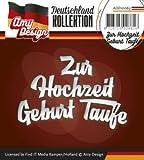 Stanzschablone - Amy Design -Text Deutsch- Zur Hochzeit Geburt Taufe